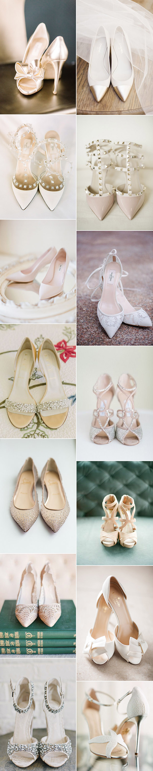 gorgeous neutral colors bridal wedding shoes for your big day