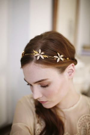 gorgeous orchid inspired wedding headpieces and headband