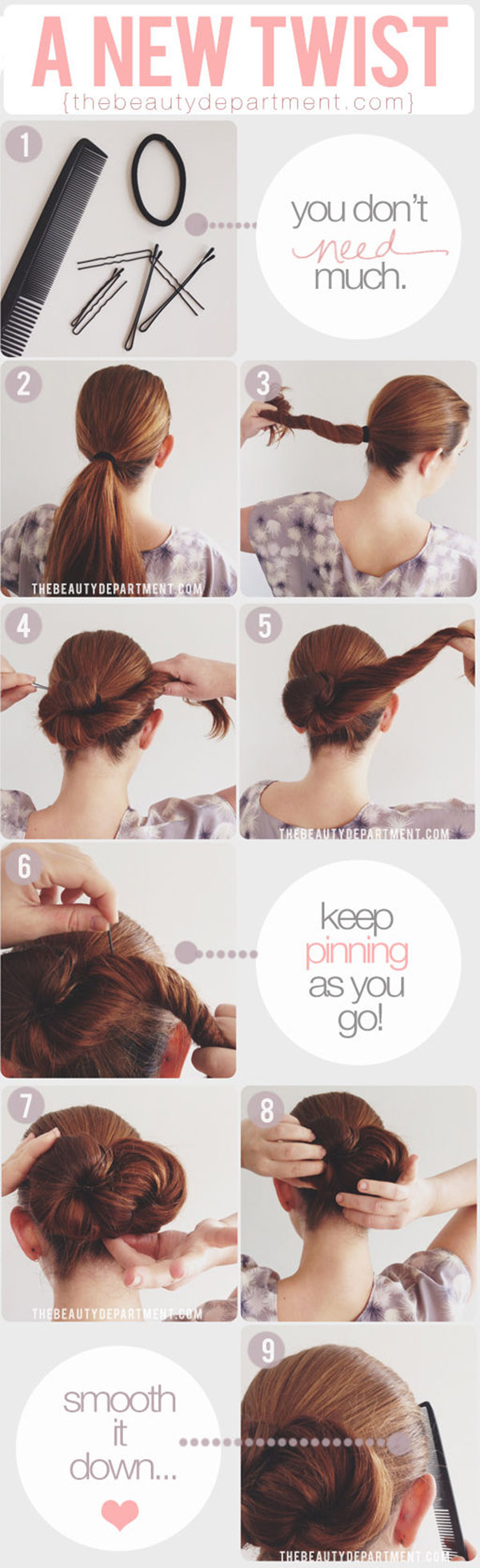 infinity symbol twist bun perfect for diy wedding hairstyles