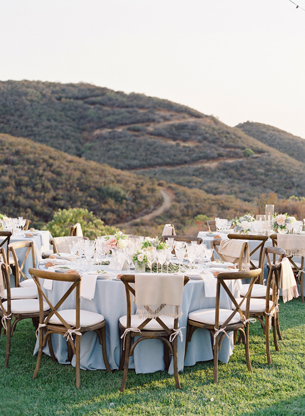 mountain side wedding reception ideas for rustic themed weddings
