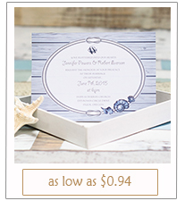 navy blue beach themed wedding invitation cards with free rsvp cards