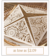 rustic laser cut wedding invitations with free rsvp cards