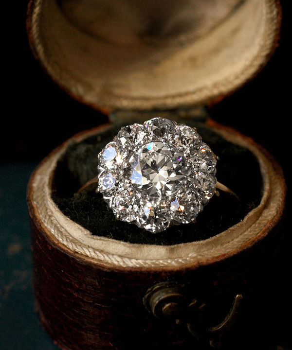 sophisticated antique vintage wedding engagement rings
