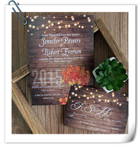 string lights and mason jars inspired rustic fall wedding invitations EWI395