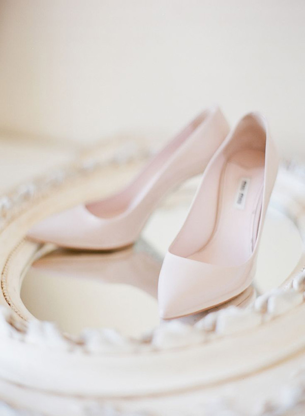 Timeless Blush Pink Chic Wedding Shoes
