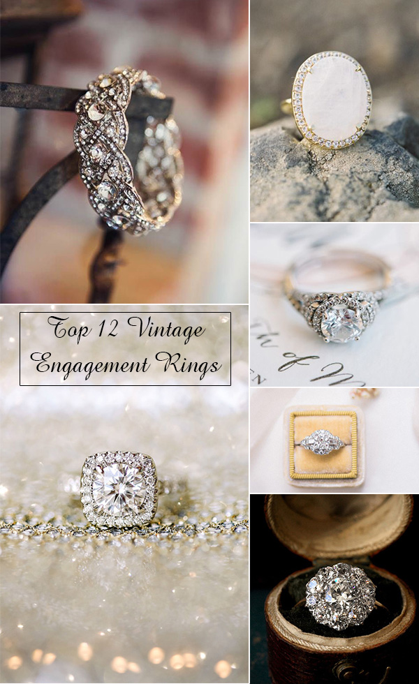 top 12 swoon some vintage wedding engagement rings