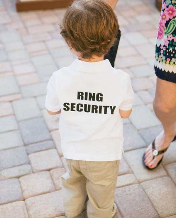 unique ring security bearer wedding ideas