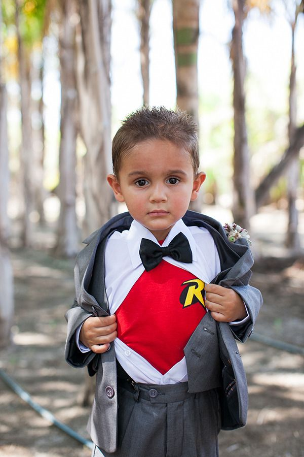 unique superhero ring bearer wedding ideas