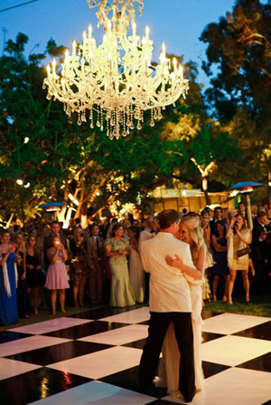 wedding chandelier decoration ideas for evening receptions