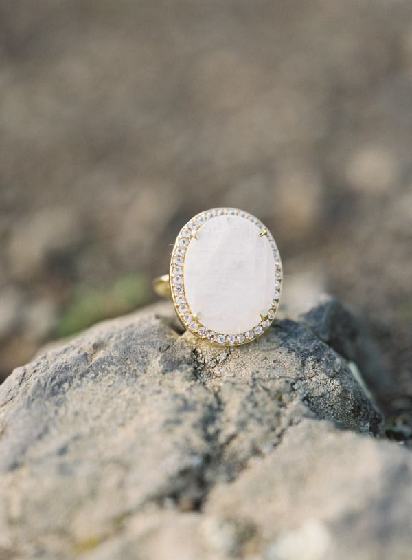 white opal vintage gold wedding engagement rings