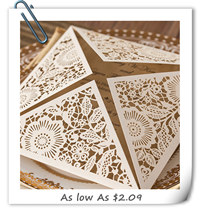 chic rustic laser cut wedding invitations 2016 trends EWWS017