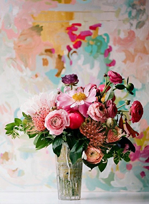 creative watercolor wedding flowers for decoration ideas