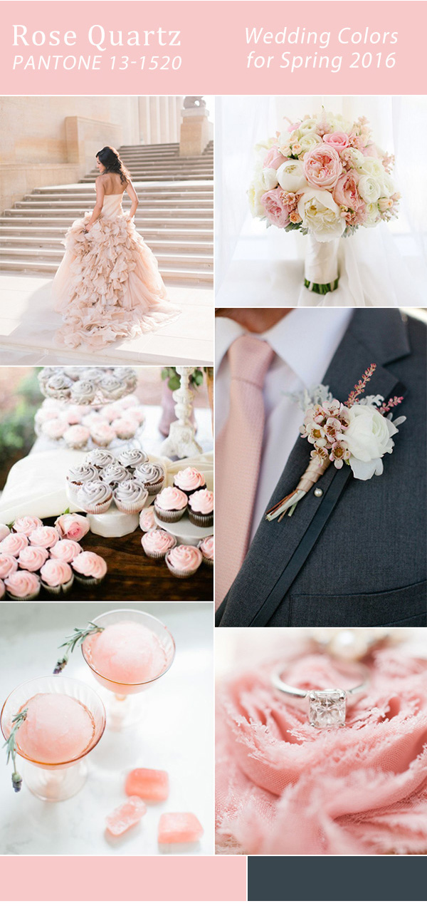elegant rose pink wedding color ideas for spring 2016 trends