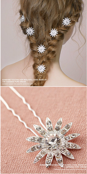 elegant wedding hairstyles with beautiful bridal accessories pin sets EWAHP027