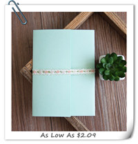 green pocket wedding invitations for 2016 trends EWPI191