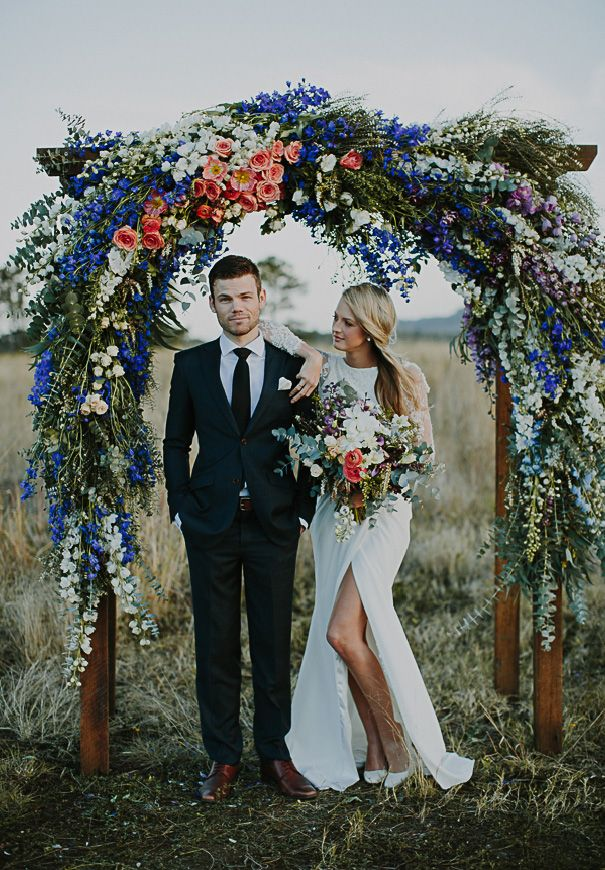 30 eye catching wedding altars for wedding ceremony ideas pink and blue inspired rustic wedding altar ideas junglespirit Images