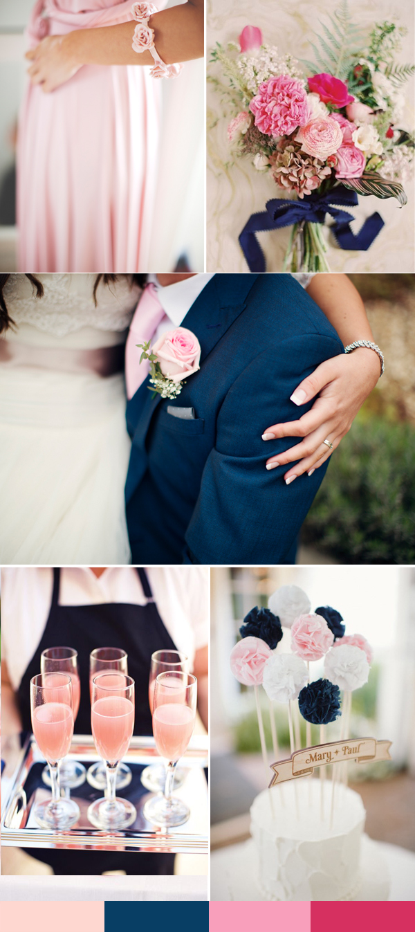 Rose themed wedding decorations images wedding dress for Navy blue wedding theme ideas