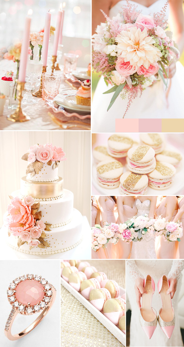 Rose Pink And Gold Sequin Wedding Ideas