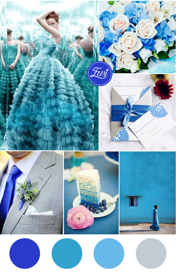 shades of blue wedding colors and pocket wedding invitations for 2016 trends