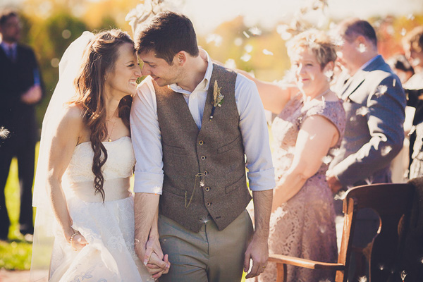 sweet post ceremony wedding couple photos