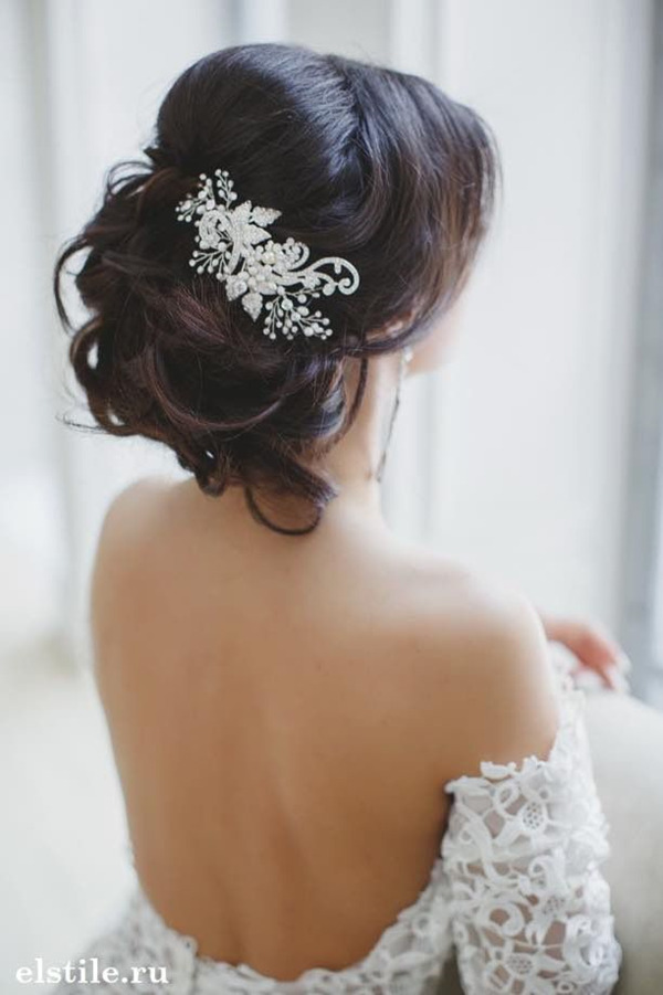 Top 20 bridal headpieces for your wedding hairstyles updos wedding hairstyles with beautiful bridal headpieces junglespirit Choice Image
