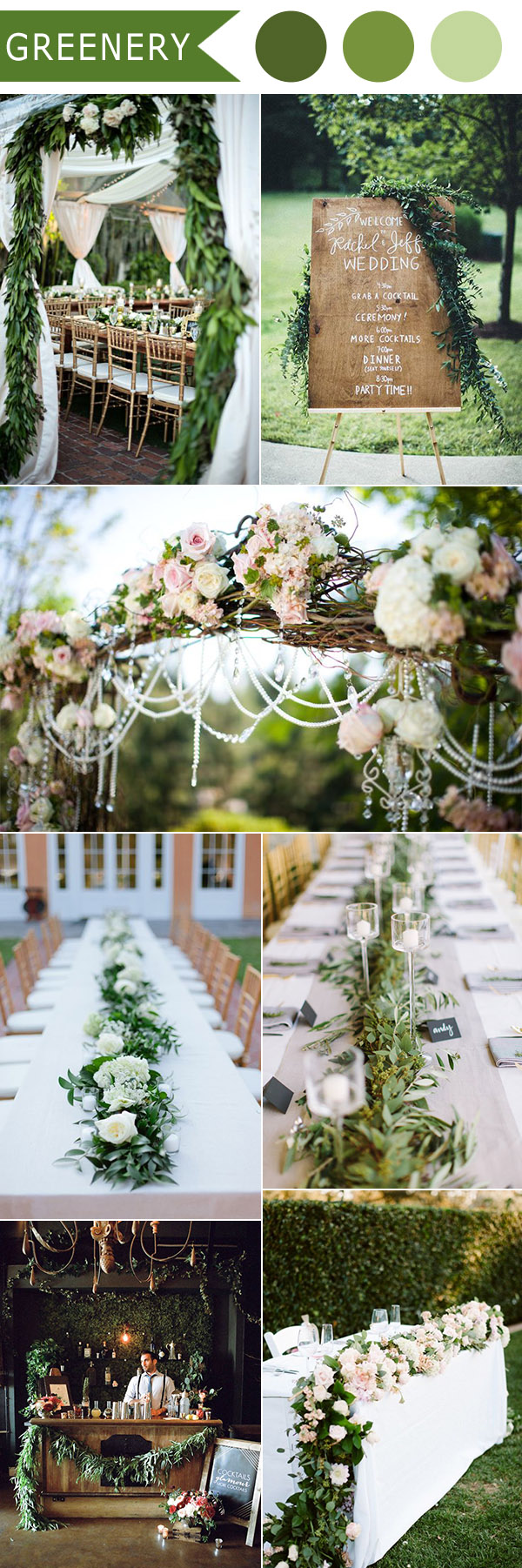 2016 trending greenery natural lush wedding ideas