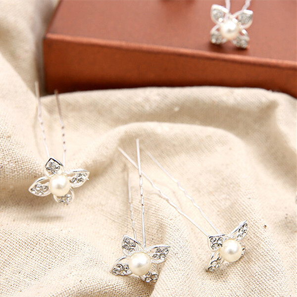 Cloverleaf Bridal Hear Pins