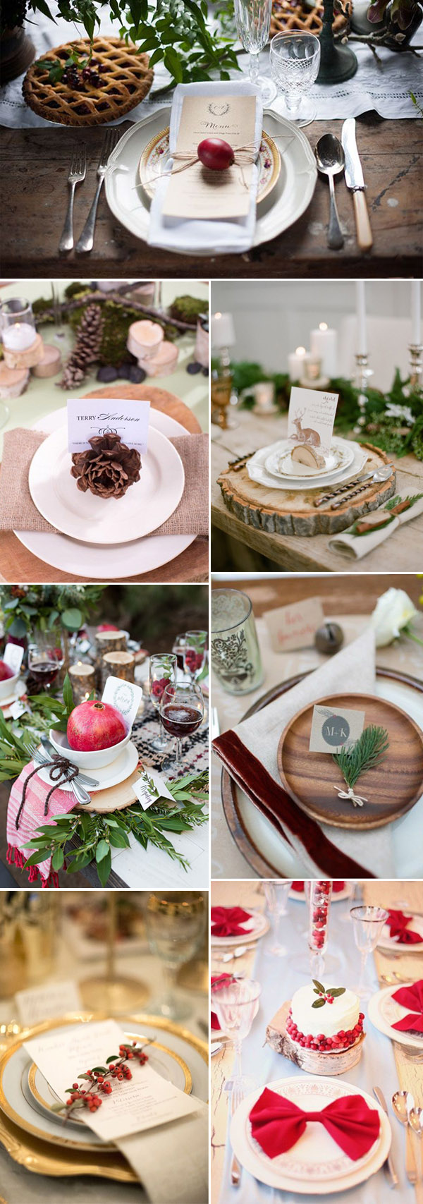 amazing winter wedding table settings with winter elements