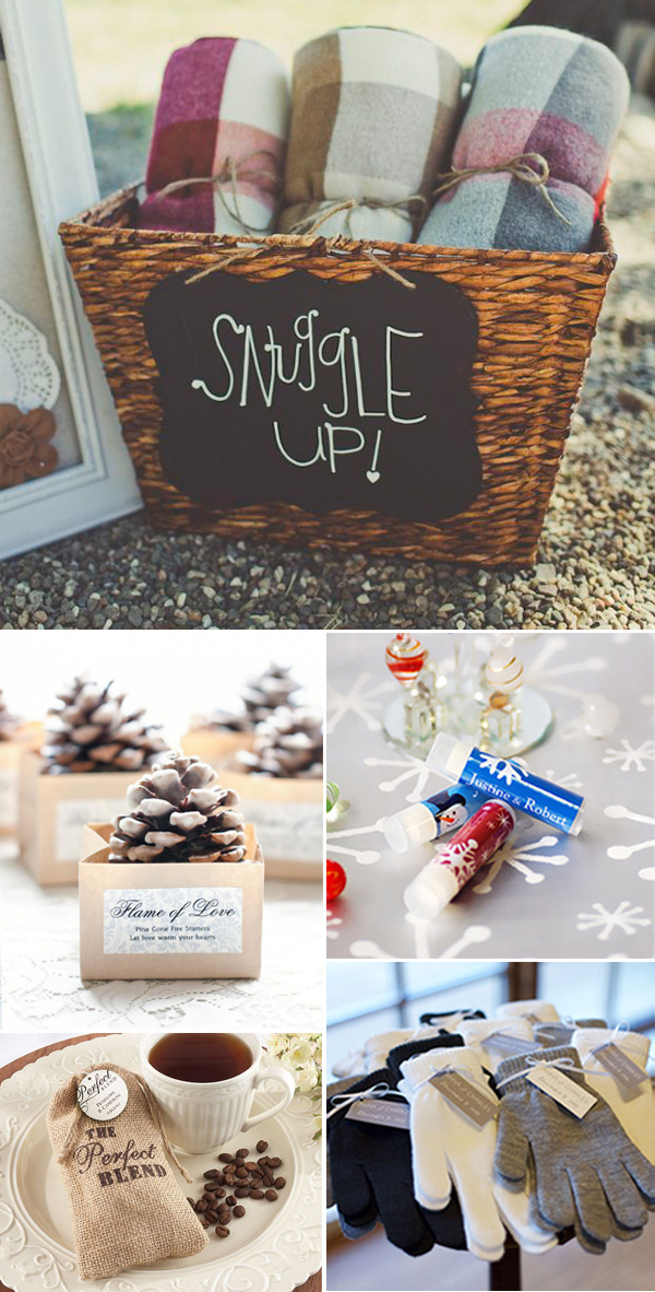 cozy winter wedding favor ideas