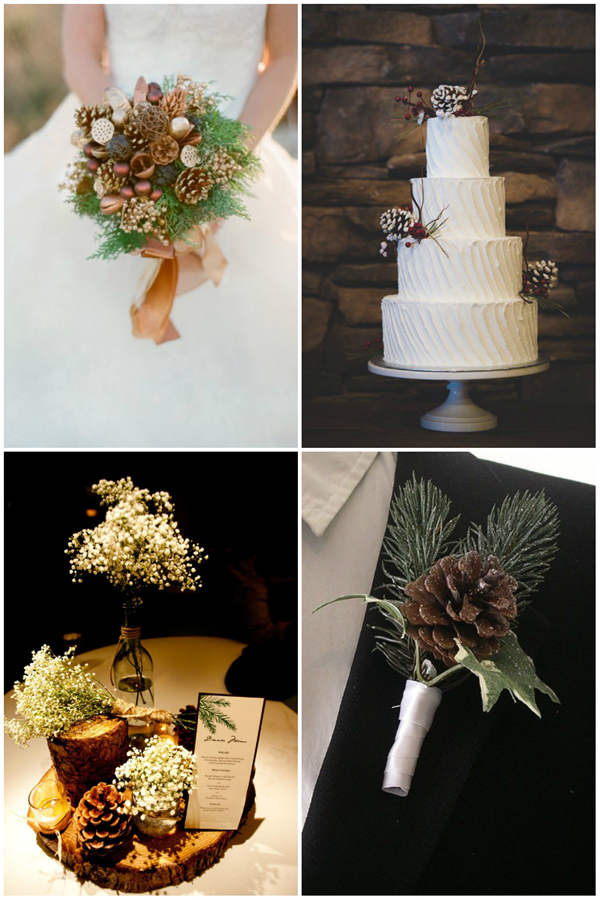 creative and elegant wedding ideas with pines