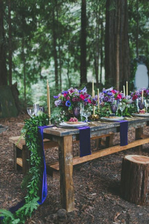 dreamy woodland wedding table decor inspiration