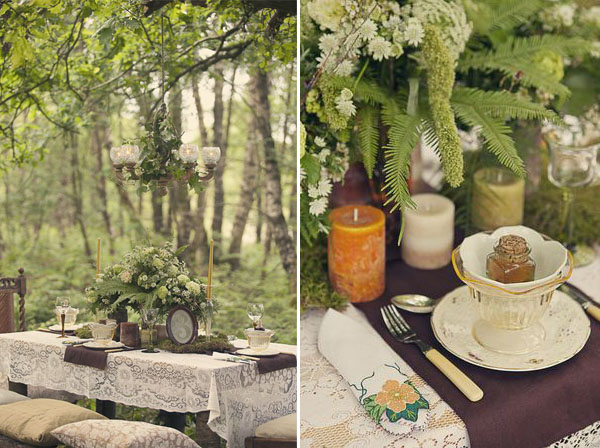 elegant woodland wedding table inspiration