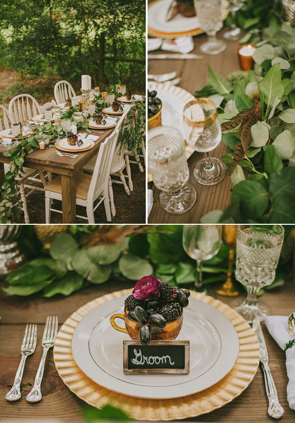 fall woodland wedding inspiration with neutral colors & earthy elements