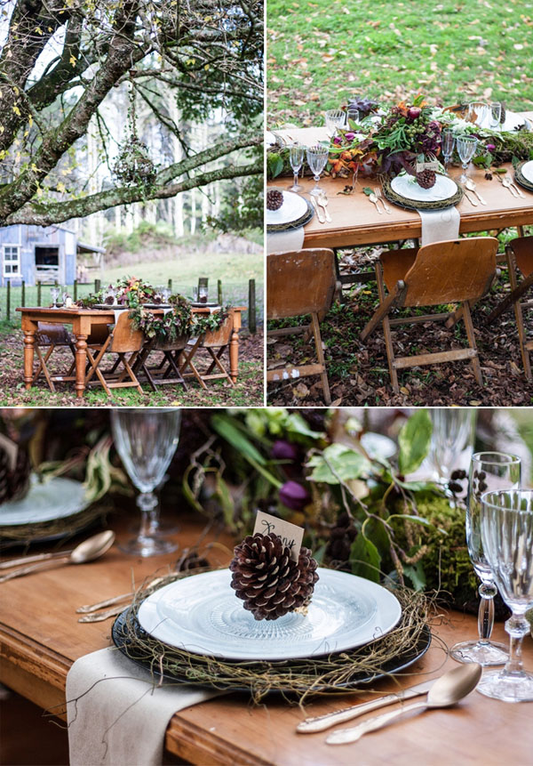 gorgeous woodland autumn weddings