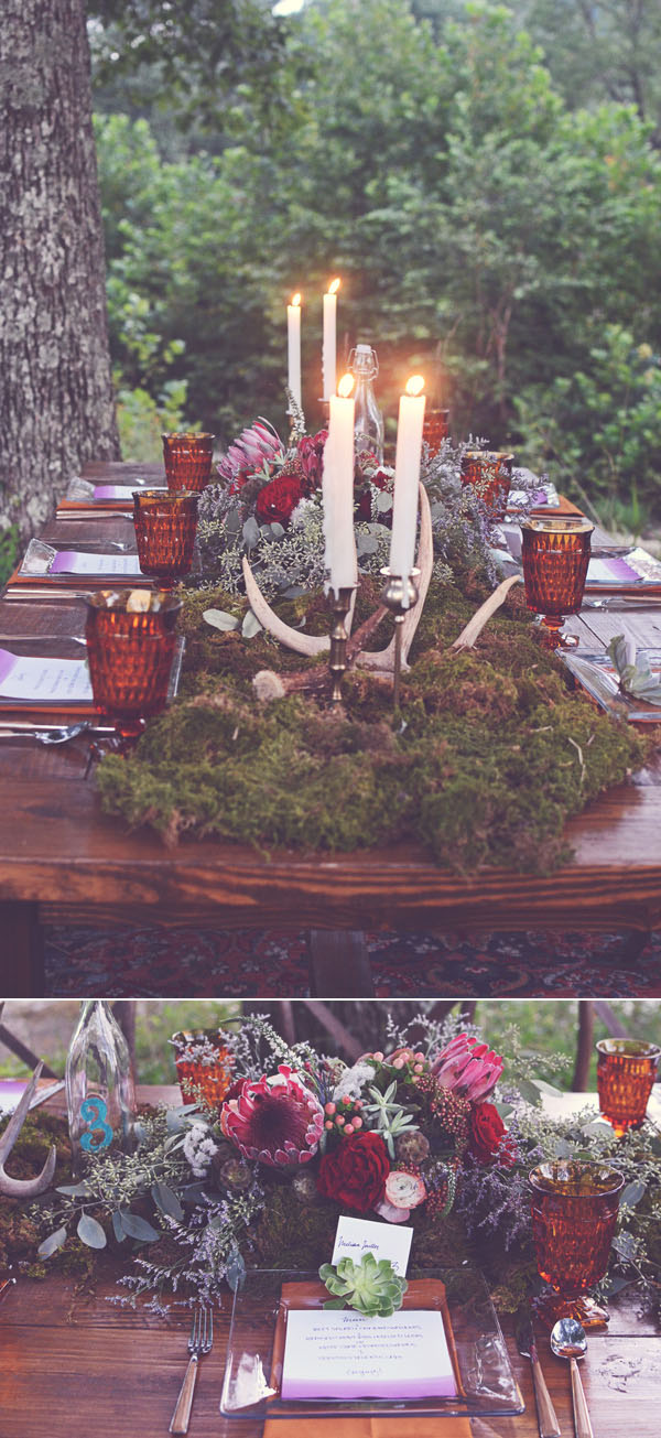 marsala woodland bohemian wedding ideas