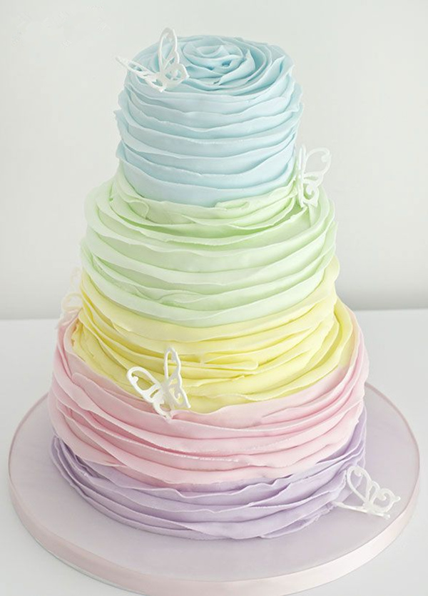 18 Pastel Wedding Cake Ideas For 2016 Spring – Elegantweddinginvites ...