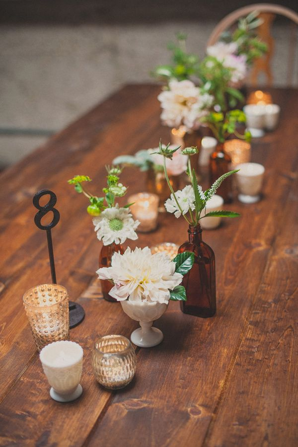simple and elegant loft wedding tablescape ideas