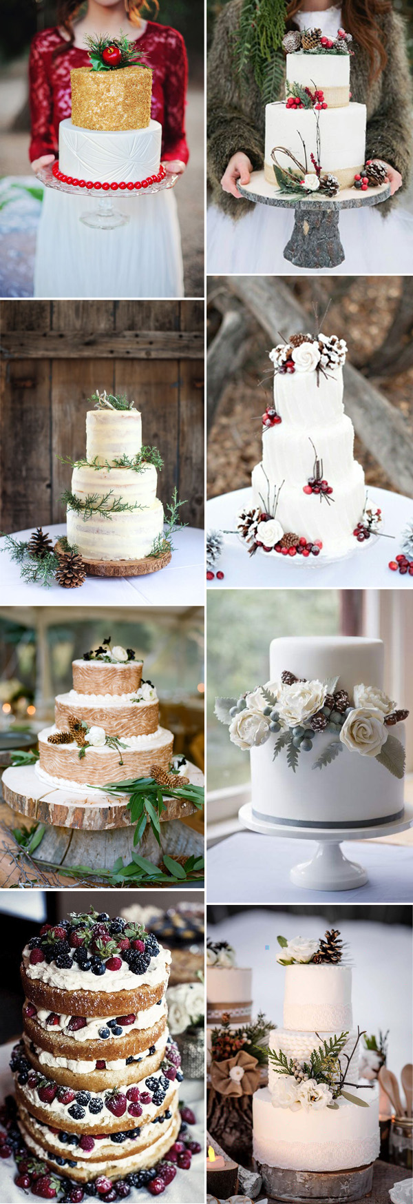 stunning winter wedding cakes with winter touches