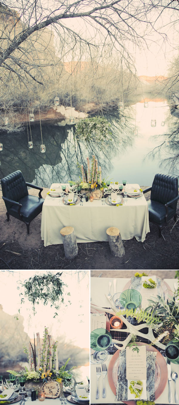 stunning woodland fairytale wedding table settings