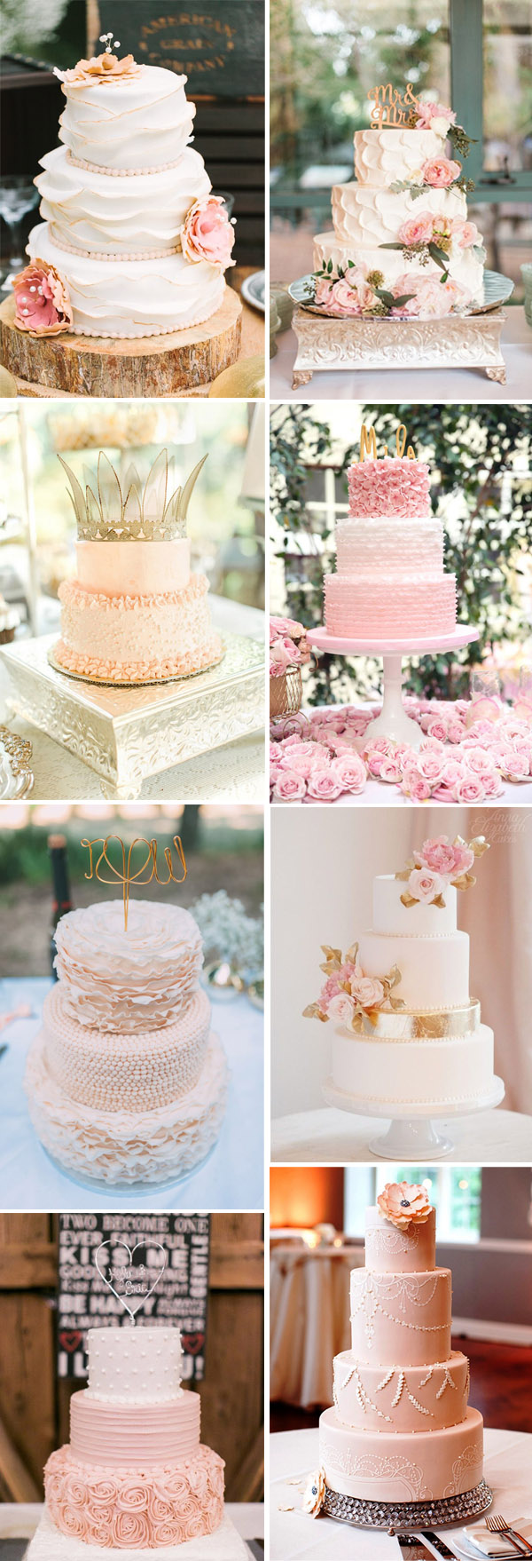 28 gorgeous pink wedding cake ideas
