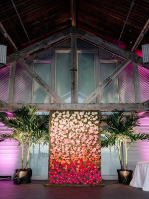 Amazing ombre flower wall- perfect for wedding backdrop