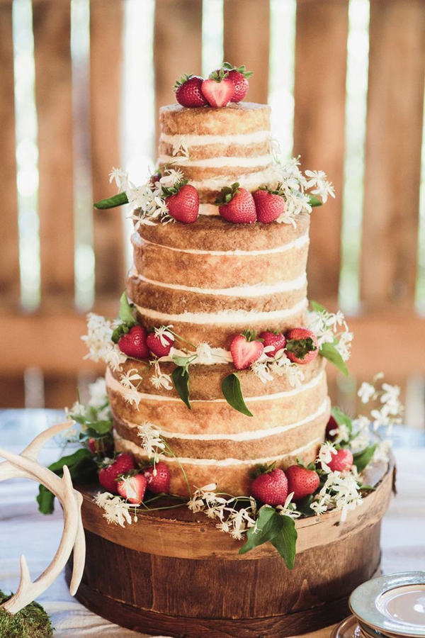31 beautiful naked wedding cake ideas for 2016 naked wedding cake ideas for rustic wedding junglespirit Gallery