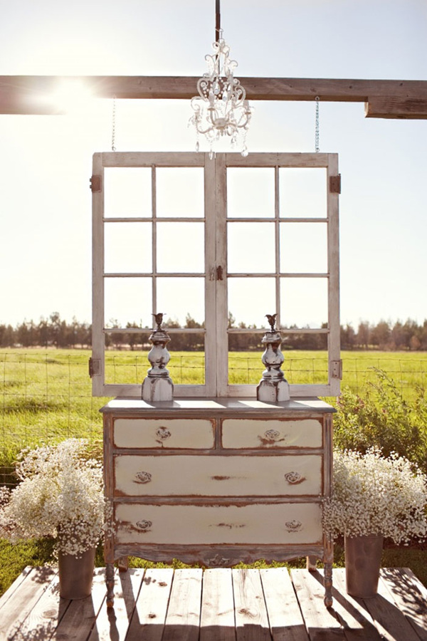 amazing wedding ideas using dresser as altars