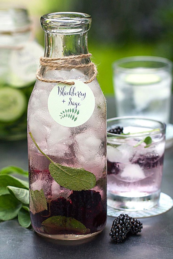 blueberry and sage wedding drinks