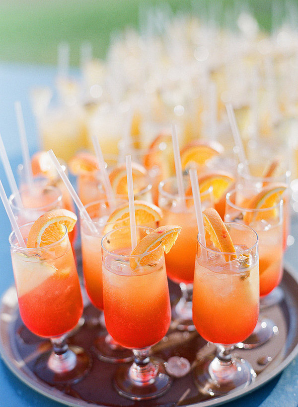 colorful cocktails wedding drinks