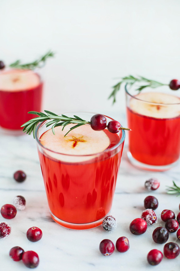 cranberry and apple cider punch wedding reception drink ideas