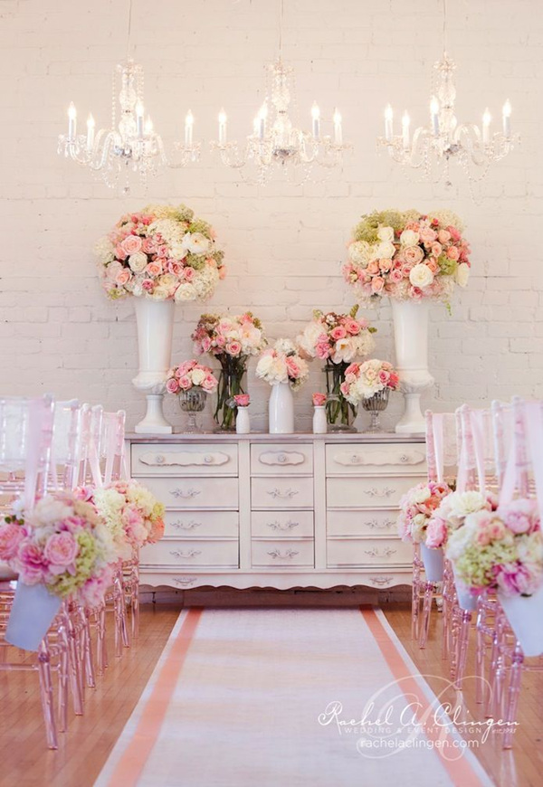 creatively glamorous wedding ideas with vintage dresser