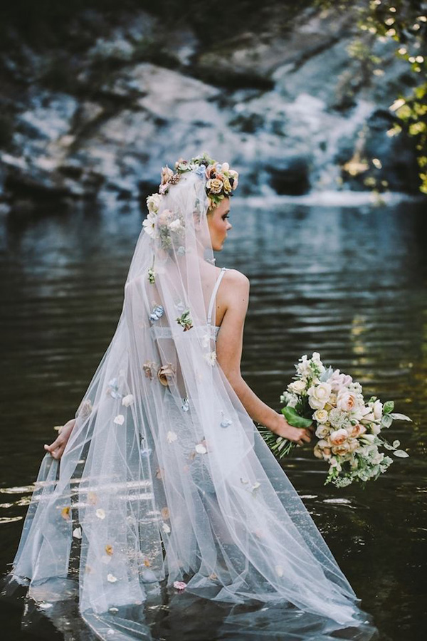 enchanting floral wedding veils