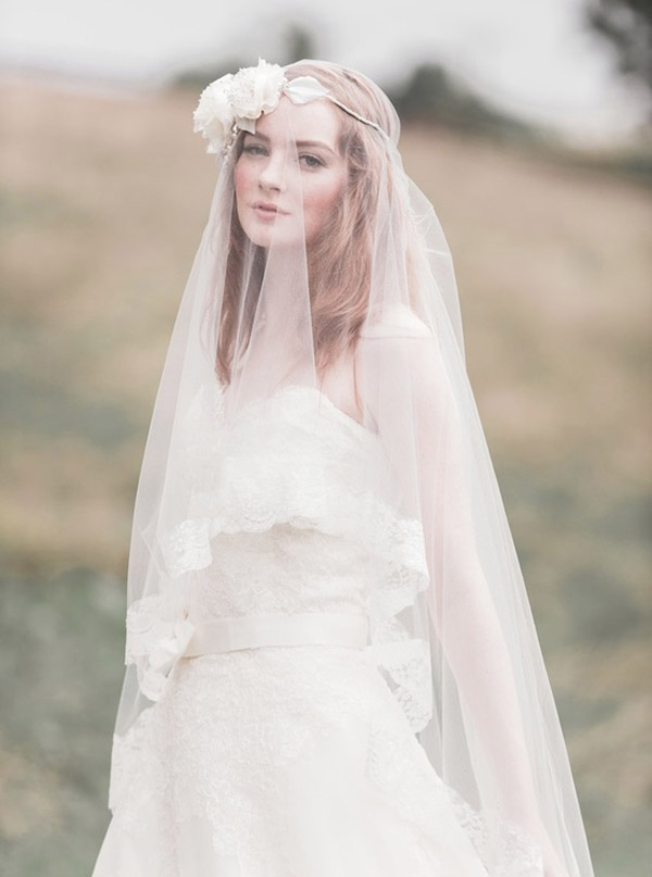 floral crown headpieces and wedding veils