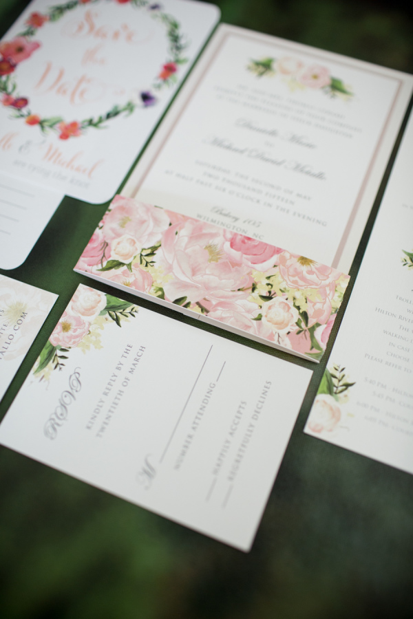 flowers and herbs spring wedding invitations for 2016